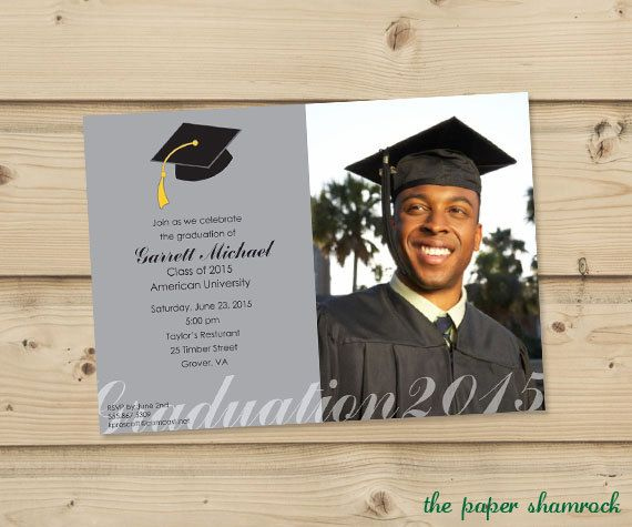 Photo Graduation Invitation High School by ThePaperShamrock, $15.00