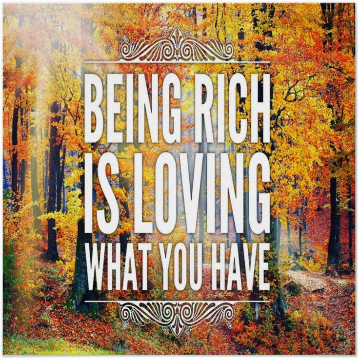 """Rich is loving what you have."" As they walk through this forest, how many will actually stop to drink in the magnificent richness of the colors? We are surrounded, immersed in, a myriad of richness every day. When you look at your life, how much of it do you love? Do you have enough? Look again!"