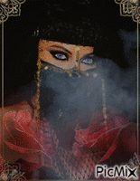 fumée et le masque
