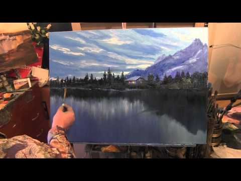 Artist Igor Sakharov. Painting the Forest and the mountains near the lake - YouTube