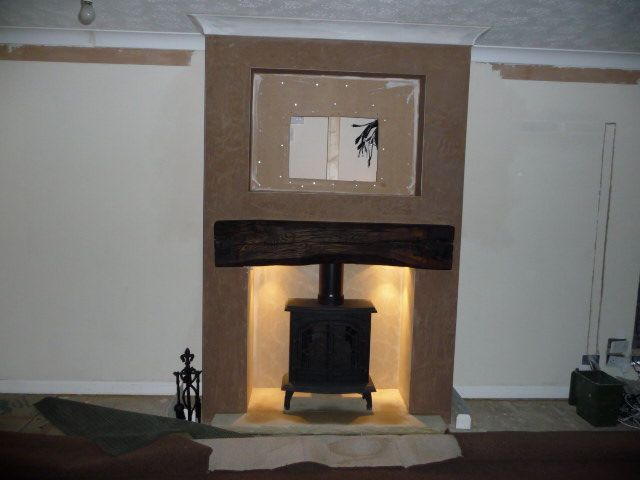 tv on chimney breast ideas - Google Search