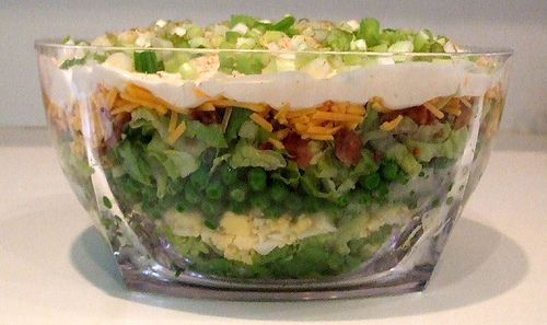 Favorite Stacked Salad with Sweet Cream Dressing from Twirl and Taste
