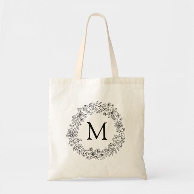 Monogrammed Tote Bags for Women Alphabet Bags Black tote bag with personalised letter Monogram Book Bag,