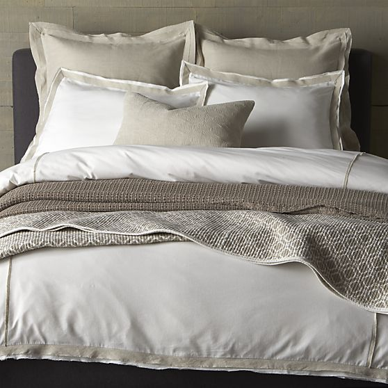Bianca Bed Linens in Duvet Covers | Crate and Barrel $149.00