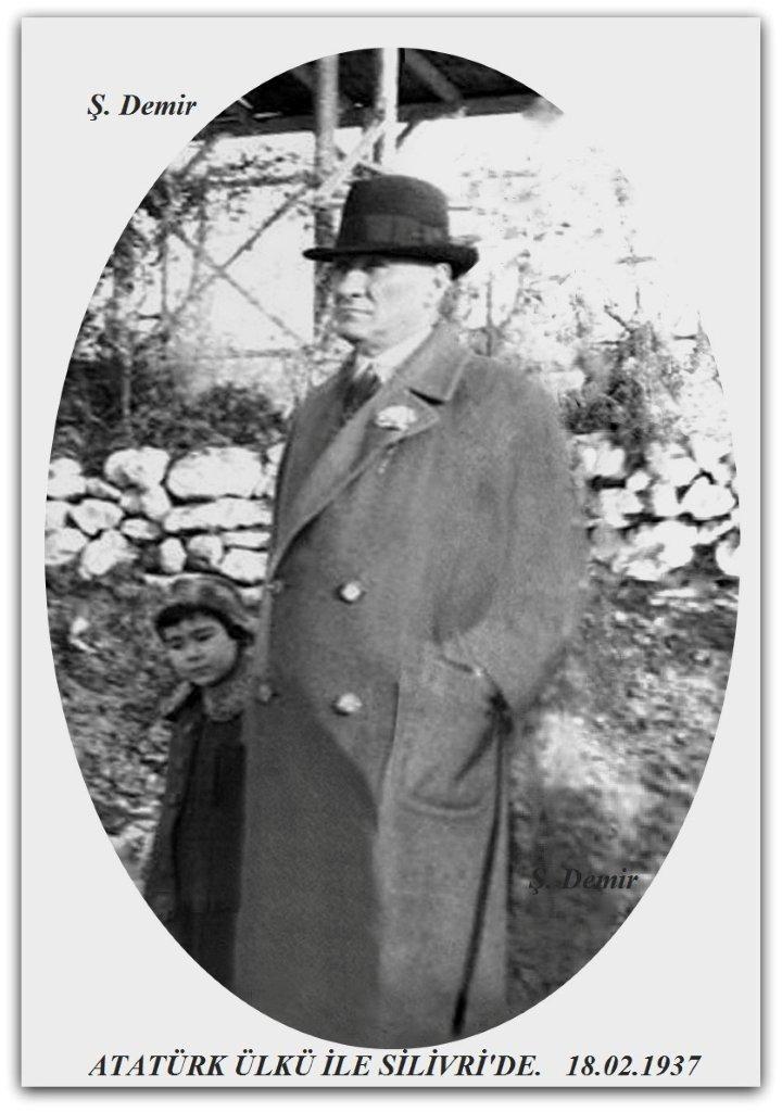Atatürk Ülkü ile Silivri'de 18.02.1937