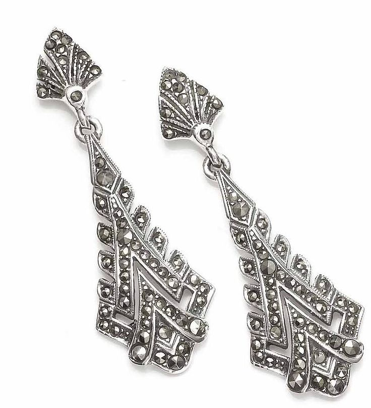 Sterling Silver And Marcasite Earrings