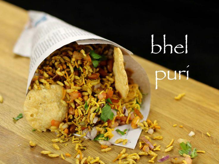 bhel puri recipe | mumbai bhelpuri recipe | bhel poori - street food of india recipe with step by step photo and video recipe. snack/chaat recipe of mumbai