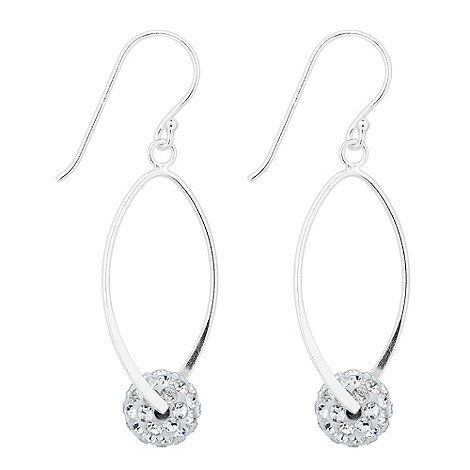 Simply Silver Sterling silver cubic zirconia ball twist drop earring | Debenhams