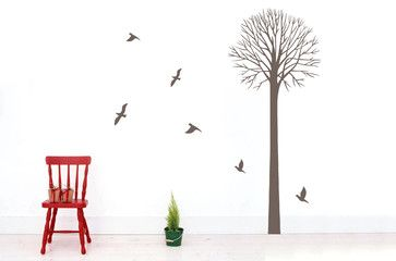 Tree Wall Decal Nursery Wall Decals Birds Forest Wall Decor mediterranean decals