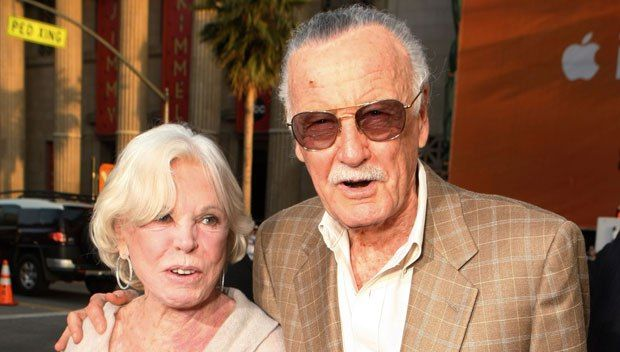 "Joan Lee died at the age of 93 on July 6, 2017. She had suffered a stroke earlier in the week. She was married to Marvel creator Stan Lee for 69 years. They met when he was supposed to take her friend on a date, and took ""the most beautiful girl I'd ever seen"" out instead. (REX/Shutterstock)"