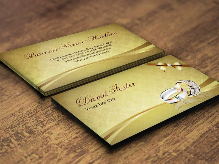 Ring Diamond Gold Jeweler Jewelry Jewellery Business Card Template