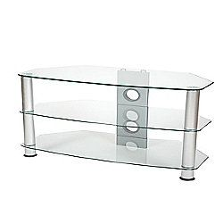 ValuFurniture Brisa 1000mm Clear Glass TV Stand for up to 50 inch
