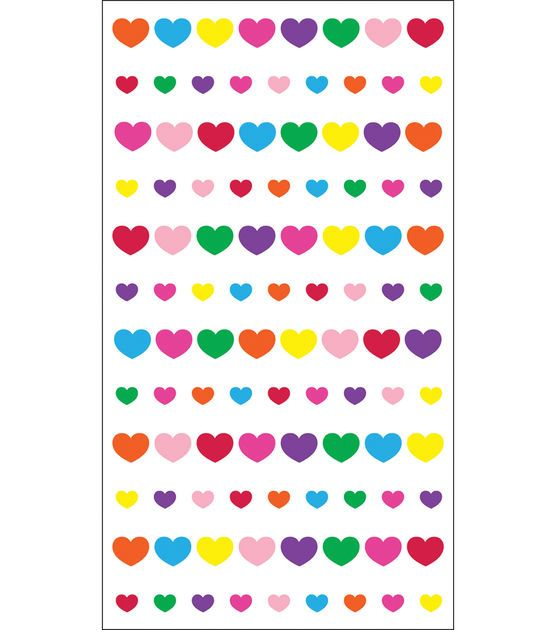 EK Success Sparkler Classic Stickers-Teeny Mini Hearts