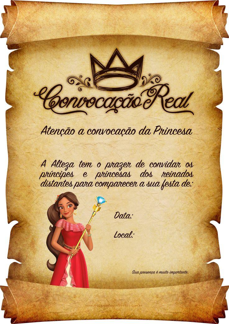 Uau! Veja o que temos para Convite Pergaminho Princesa Elena de Avalor 6