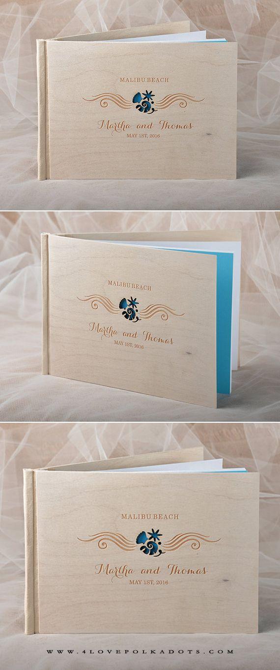 WEDDING GUEST BOOKS wood 9 best Surf