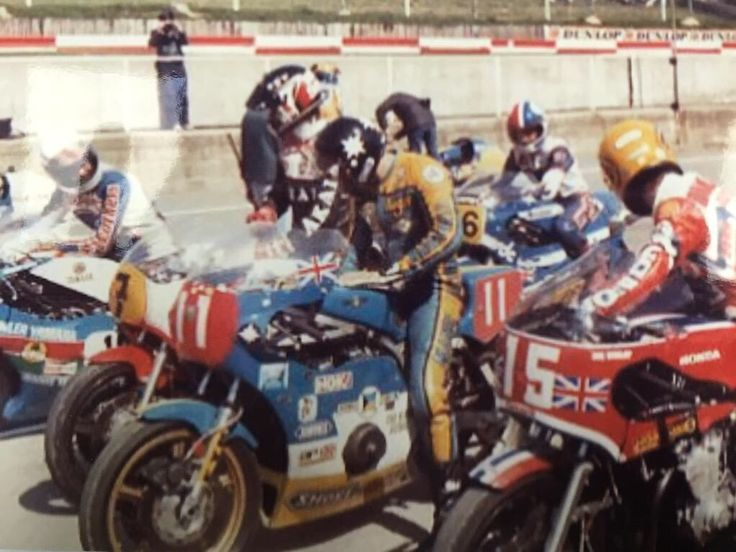 @Jimwhit69 Ron Haslam, Barry Sheene, Roger Marshall, Joey Dunlop and Keith Huewen?