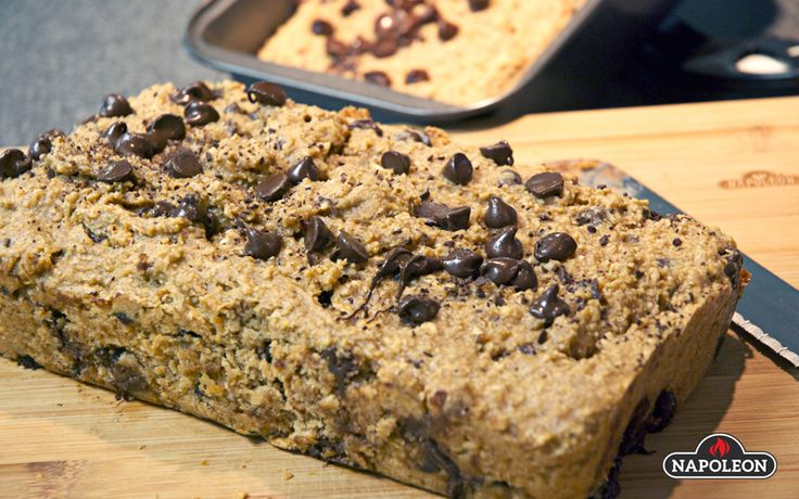 Peanut Butter Banana Bread With Oatmeal And Chocolate Chips