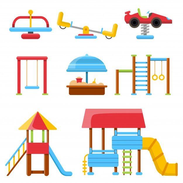 Equipamiento Para Parque Infantil Vector Premium Vector Freepik Vector Edificio Deporte Dibujo Parques Infantiles Juegos De Parques Dibujos De Juegos
