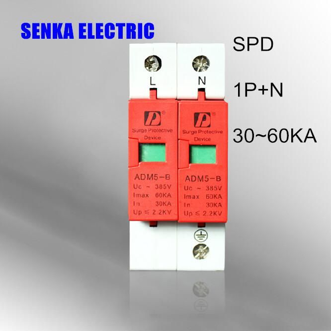 Spd 30ka 60ka 1p N Surge Arrester Protection Device Electric House Surge Protector D 385v Ac Yesterday S Price Electric House Locker Storage Electrical Equipment