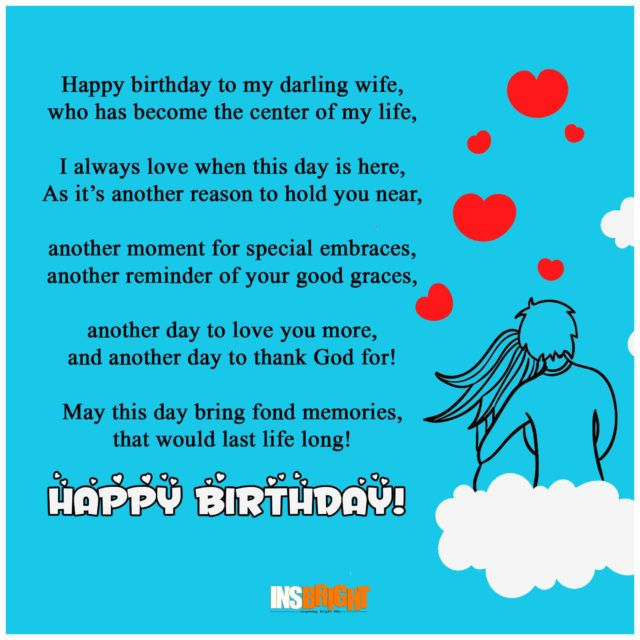 11 Best Birthday Poems For Wife From Husband Images On