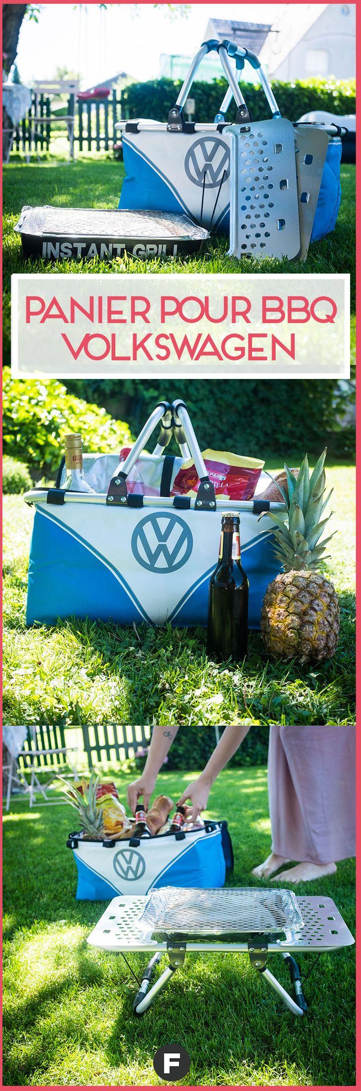 Le BBQ volkswagen s'emporte en camping comme un sac pratique et se tranforme en barbecue portatif ! #bbq #barbecue #volkswagen
