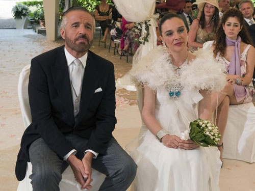 """Franco Ciambella Wedding Dress for the film """"Il figlio piu' piccolo"""" by Pupi Avati"""