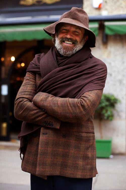 : Men Shawl, Robert Rabenstein, Men Style, Robertrabenstein, Style Elements, Men Fashion, Style Men, The Sartorialist, Streetmanshawl P1