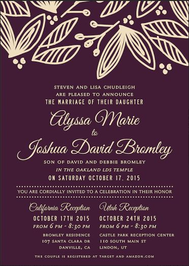 invitation maker invitation ideas floral wedding elegant wedding lds wedding invitations