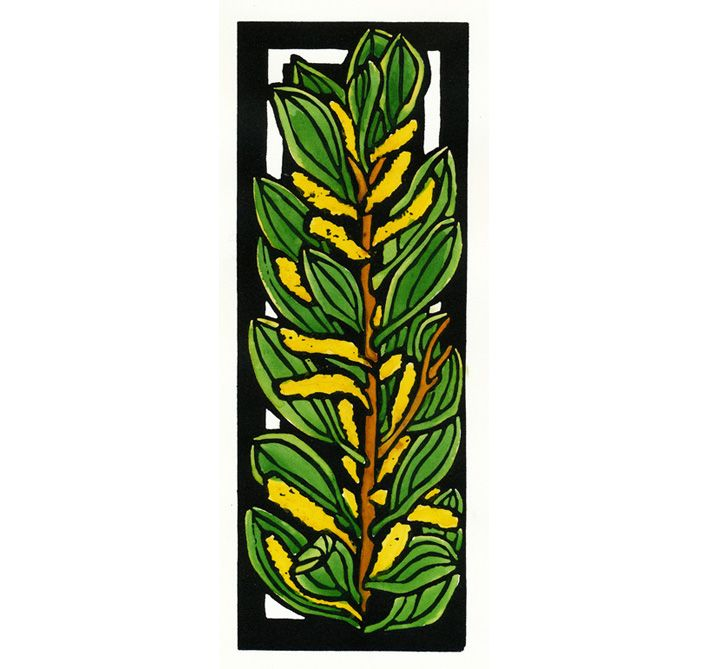 Wattle Deco - Art Deco inspired Limited Edition Handpainted Linocuts by Lynette Weir