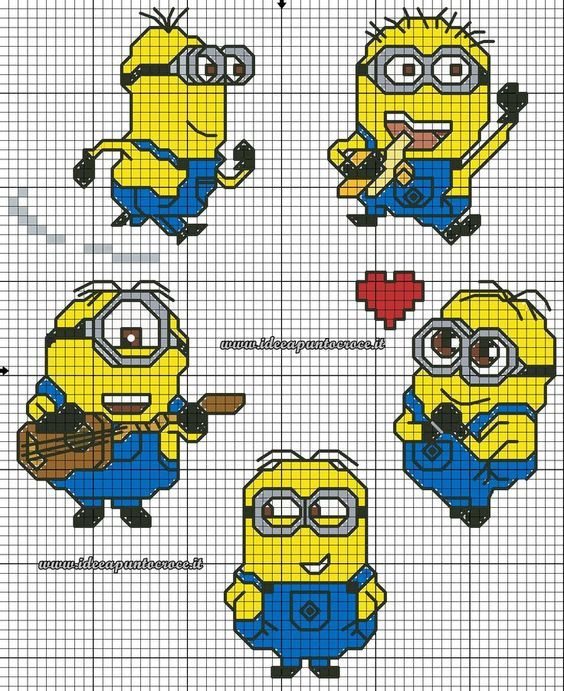 9 best Minions images on Pinterest   Cross stitches, Punto croce and ...
