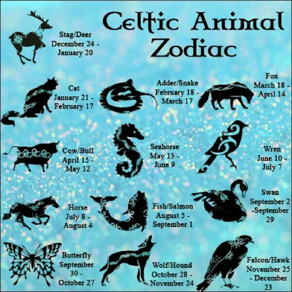Celtic Astrology: Celtic Animal Zodiac Dates | #celticastrology #celticanimalastrology