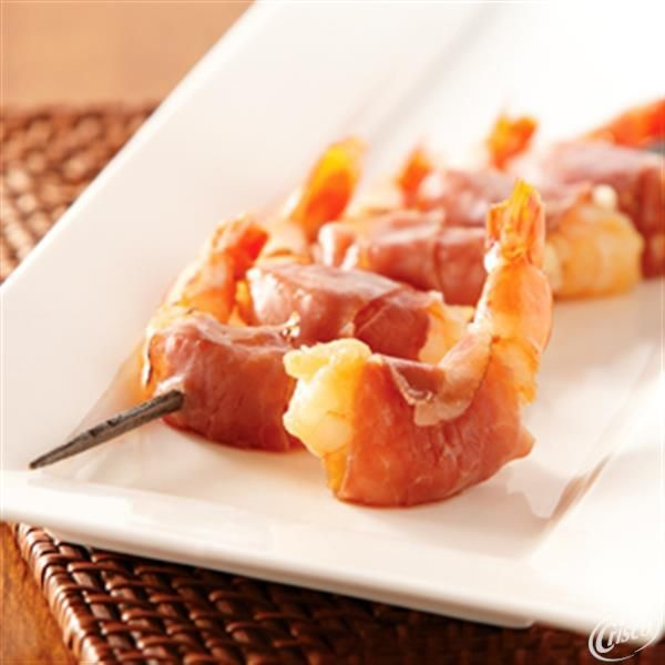 Maple-Glazed Prosciutto Wrapped Shrimp from Crisco is a simple and delicious appetizer recipe.