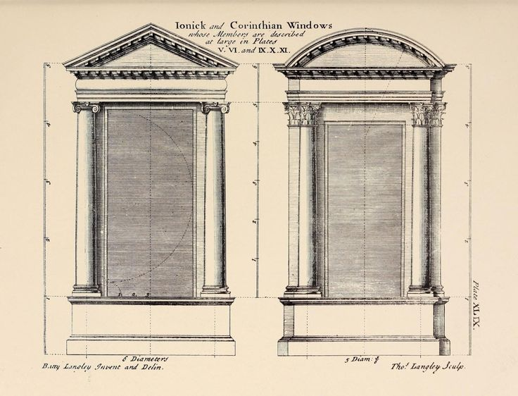 Design for ionic and corinthian windows drawnings for Window design 4 4