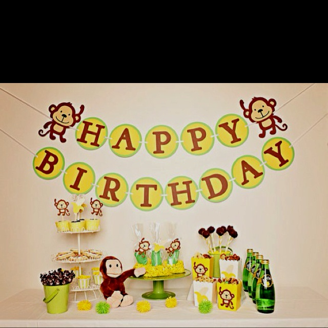 14 best Monkey Birthday Party images on Pinterest Monkey birthday