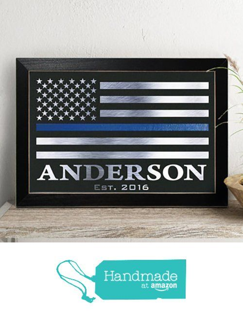 Personalized Police Officer Gift, Thin Blue Line Flag, Law Enforce sign, Real Foil Print from Chudoff https://www.amazon.com/dp/B01M2CYUSY/ref=hnd_sw_r_pi_dp_IXJ5ybQFKBDN2 #handmadeatamazon