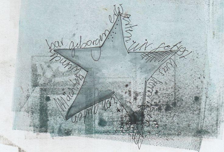 Text um den Stern geschrieben: Von guten Mächten wunderbar geborgen