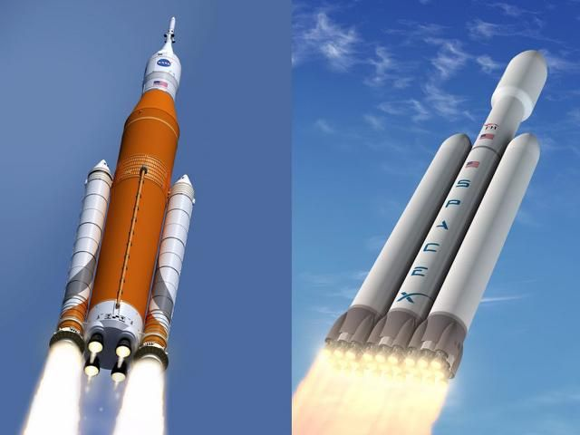 SpaceX Falcon Heavy success could kill Space Launch System