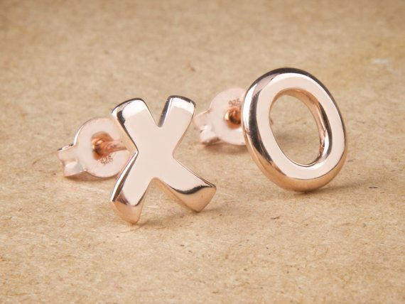 XO Earrings Silver Earrings Hugs and Kisses Gift For by Wavejewels