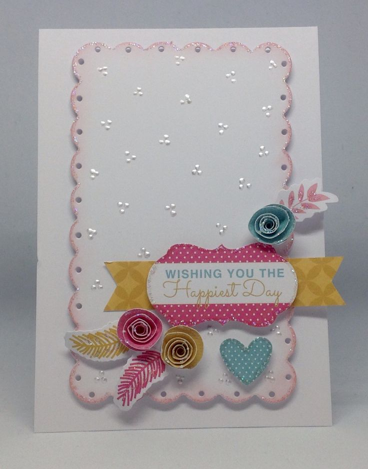 Card created using Daisy, Ditsy and Dotty Project kit with Card Blanks and Scallop Matts, by Julie Hickey www.craftworkcards.com