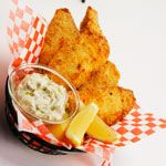 """Crispy Fish Filets with Tartar Sauce (CBC """"Best Recipes Ever"""" & Cdn Living) *can use pickles instead of relish. Serve with """"Sweet Potato Fries with Curry Mayonnaise"""""""