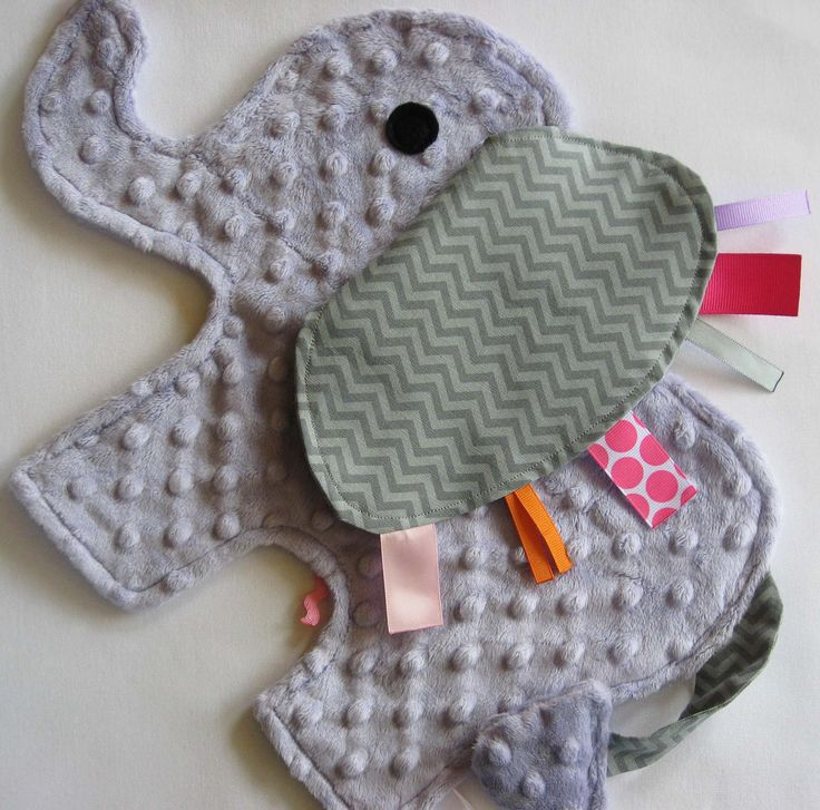 Elephant Sensory Security Blanket... I have so many things that I want to make out of minky