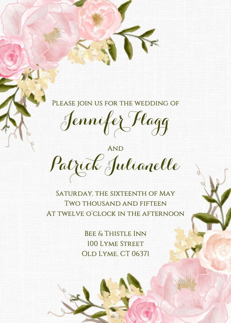 Garden wedding invitation ideas #wedding #invitation #flowers #floral