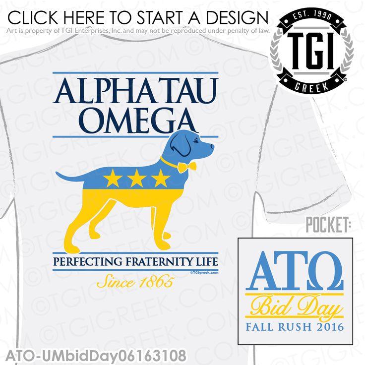 TGI Greek - Alpha Tau Omega - Rush - Recruitment - Greek Apparel - Fraternity…