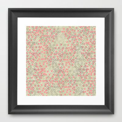 Dots and Rings-Neutral Framed Art Print by nandita singh - $37.00
