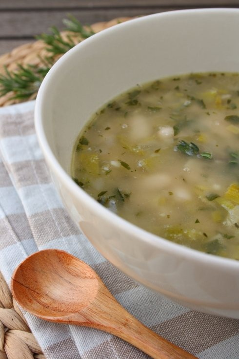 Spinach And Leek White Bean Soup Recipe — Dishmaps