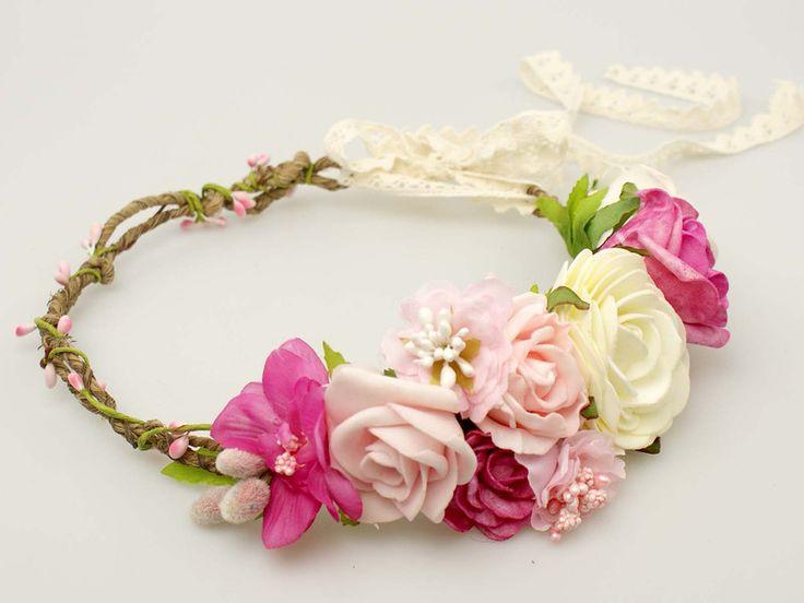 Ślubny wianek ze sztucznych kwiatów - idealny dla panny młodej, na wesele, na…