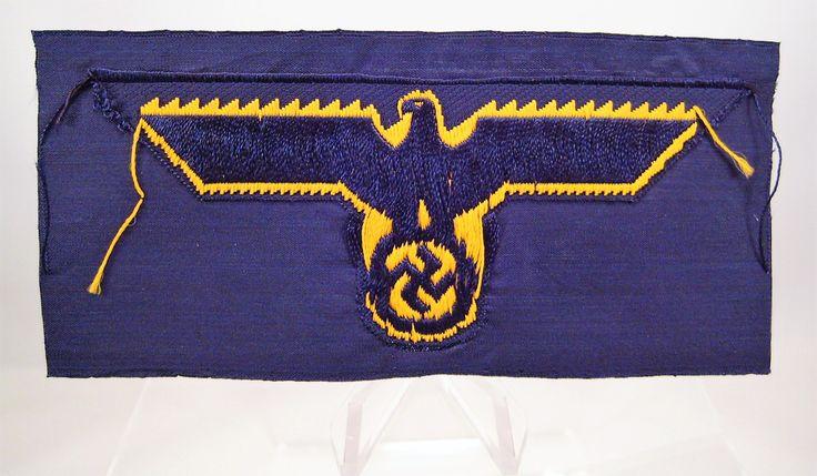 28/LXI Militaria UK – WW2 Deutsche (German) – Kriegsmarine (German Navy) Standard Issue BeVo National Emblem Breast Eagle / Badge.