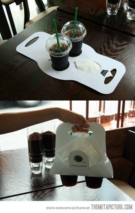 drink carrier テイクアウトもこんなに簡易包装でも可愛い!