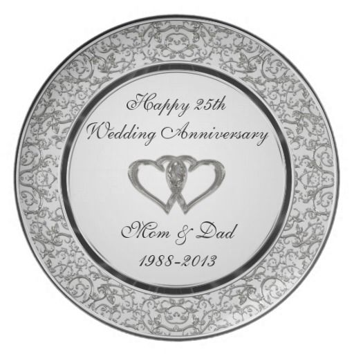"A Digitalbcon Images Design featuring a Platinum Silver and Black color theme with a variety of custom images, shapes, patterns, styles and fonts in this one-of-a-kind ""Silver Wedding Anniversary"" Plate. This elegant and attractive design makes the ideal gift for the Anniversary Couple on the special occasion and comes with customizable text lettering and customizable image to suit your own special occasion and interest."