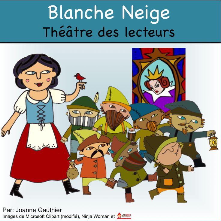 This is a free Readers' Theatre script for Snow White in French. Voici une pièce de théâtre gratuit, Blanche Neige, pour le théâtre des lecteurs.
